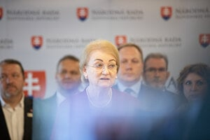 Anna Záborská presents the proposal to amend abortion law in Slovakia on June 19, 2020.