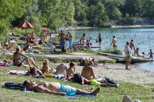 People enjoying a nice sunny day on the lake in Ivanka pri Dunaji on September 15, 2020.
