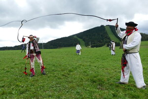 The school of whipping in Čičmany.