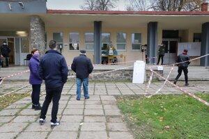 The testing in Zvolenská Slatina on November 1, 2020.