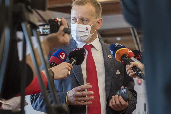 Boris Kollár in parliament on October 23.