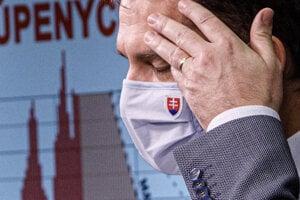 PM Igor Matovič at January 11 press conference.