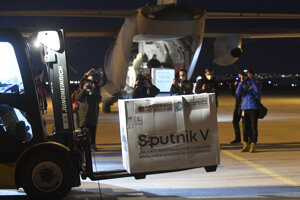 The first batch of Sputnik V vaccines arrived in Slovakia on March 1.
