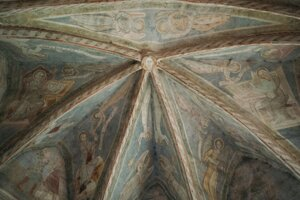 Frescoes in the Kocelovce church.