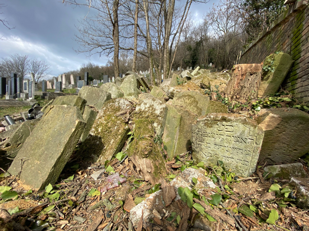 Four hundred Jewish tombstones destroyed in the 1940s have been rediscovered.