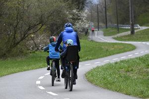 Cycling in Skalka nad Váhom.