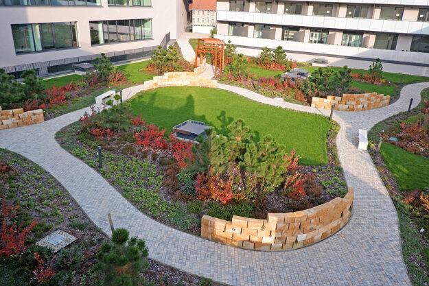 Košice Rental Apartments -  a green inner atrium