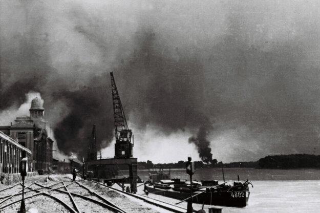The 1944 bombing of Bratislava