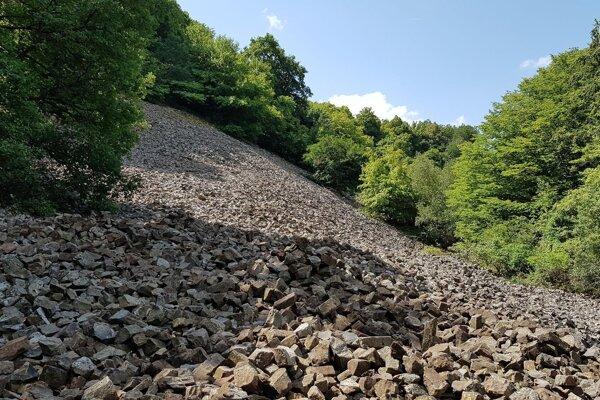 A stone run near Šomoška Castle in the south of central Slovakia.