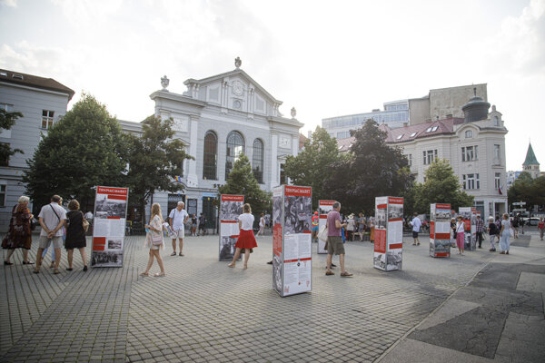 The open-air exhibition about the Old Market Hall