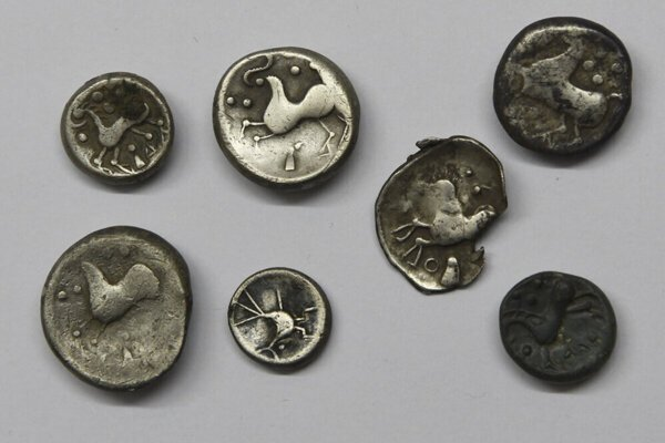 Celtic coins found in Jánovce in the past.
