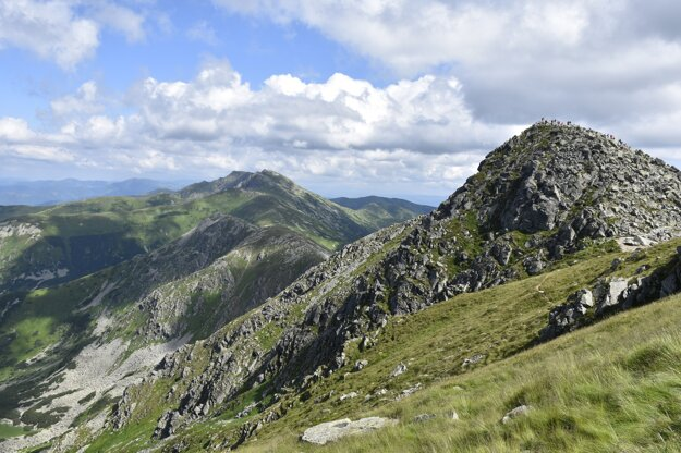 A view of the Low Tatras from the Chopok peak, central Slovakia.