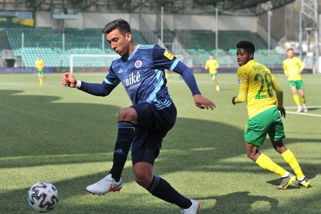 Argentinian footballer Vernon de Marco plays for the Slovan Bratislava football club.