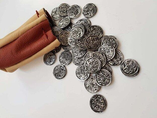 The replicas of denarii were made by a local craftsman.