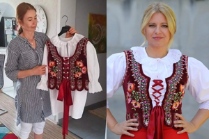 "During the summer, tailor Danka Tropeková created a ""brúcnik"" for President Zuzana Čaputová."