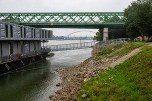 The low water level in Bratislava.