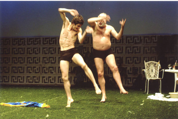 Simon  Versnel (right) dances alongside  Franck Chartier in a scene from Le Jardin (The Garden).