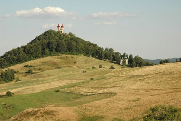 The 18th–century Calvary Complex is one of the dominant features of Banská Štiavnica.