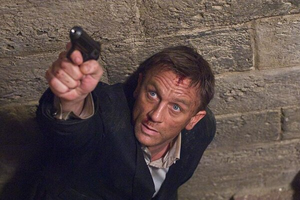 Shaken, not stirred: Daniel Craig, as James Bond, ruins yet another suit in Quantum of Solace.