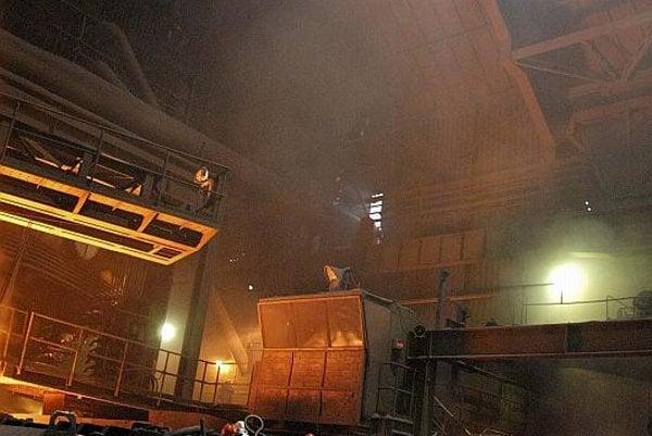 A blast furnace inside U.S. Steel Košice's plant.