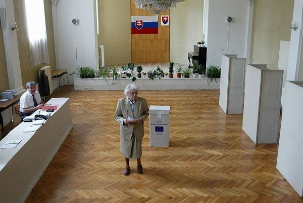 Lonely voter: EP election turnout was low in 2004