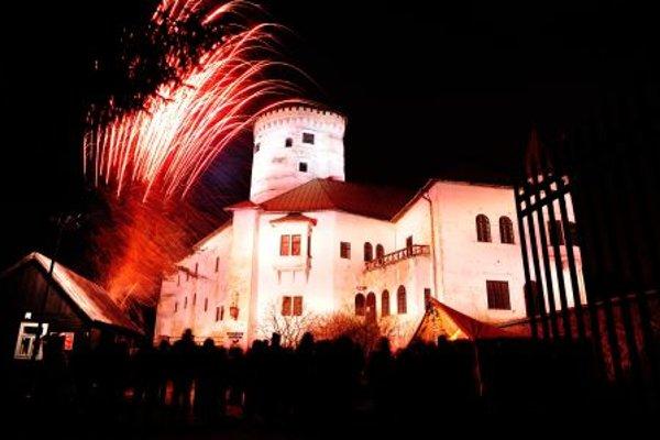 Budatín Castle with festive decoration