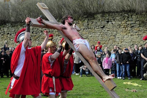Events in ancient Jerusalem on Good Friday are re-enacted in Prešov.