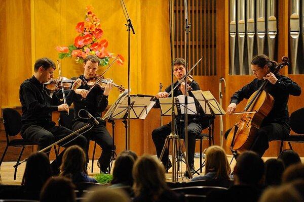 The Czech Bennewitz Quartet performed at the Žilina music festival.