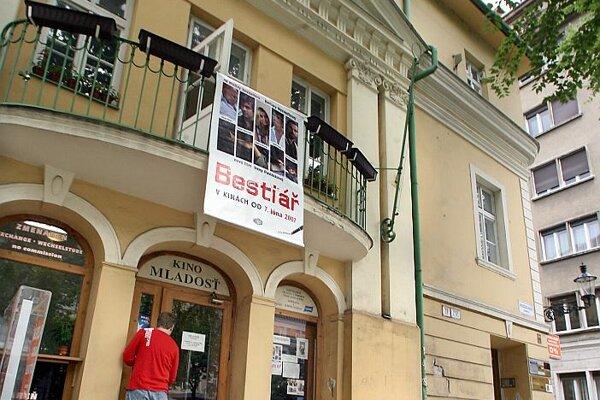 The Mladosť cinema on Bratislava's Hviezdoslavovo Square.