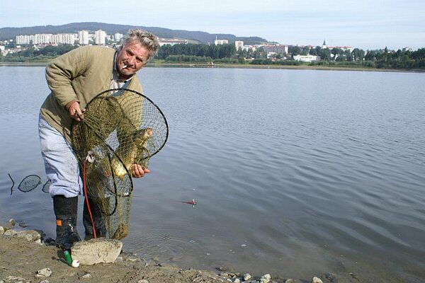Fishing is a popular pastime in the Orava reservoir.