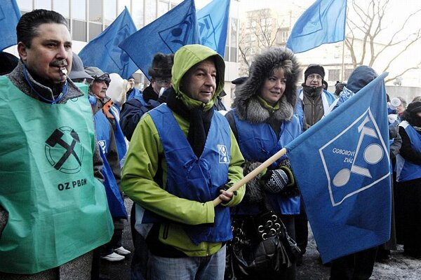 Labour unions protested before Christmas.