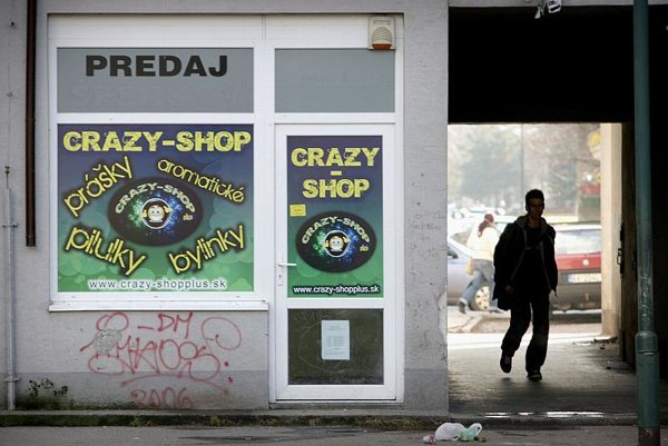 Crazy shops have mushroomed in Slovakia after they were banned in Poland
