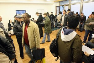 The reception at the Border and Foreigners' Police station in Petržalka.