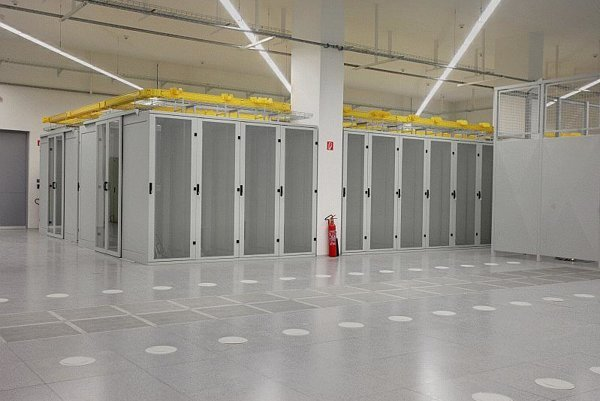 The first hall at GTS' data centre.
