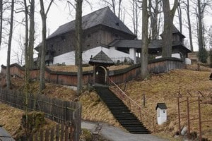 A wooden church in Leštiny is one of the sites on the UNESCO World Heritage List.