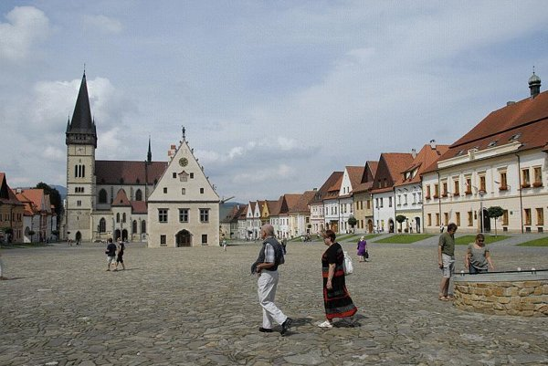 The main square in Bardejov is a good place to start discovering the UNESCO-listed town