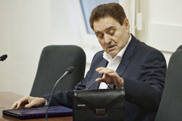 Jozef Majský in court.