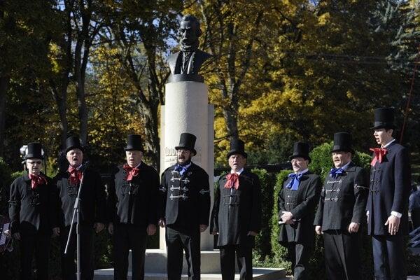 The celebration also concentrated around Ľudovít Štúr's memorial.
