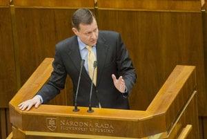 Daniel Lipšic in parliament.