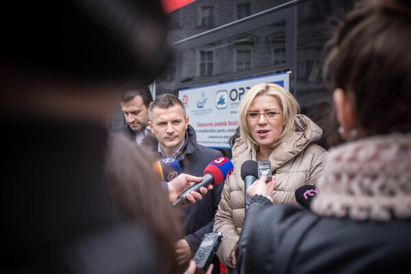 Corina Cretu in Brtislava, illustrative stock photo.