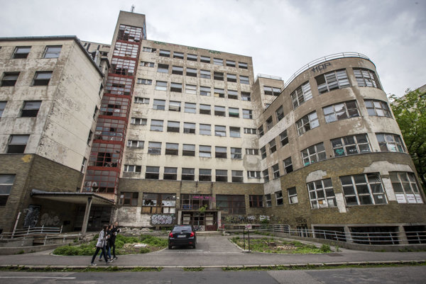 Former policlinic at Bezrucova street in central Bratislava.