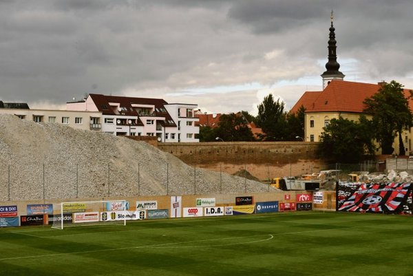 An archaeological dig is underway at the City Arena construction site in Trnava.