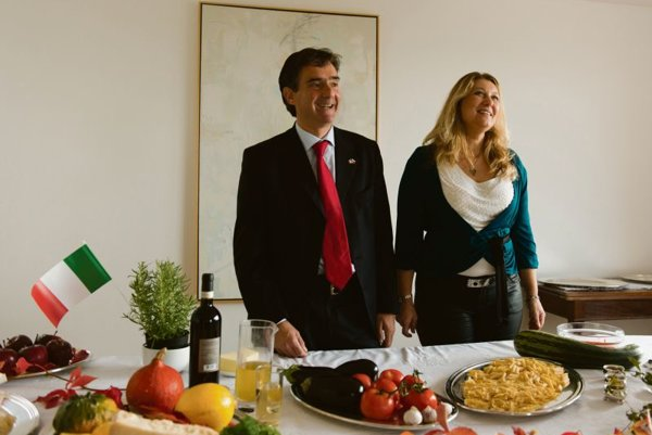 Roberto Martini and his wife Flavia presented Italian cuisine, with a focus on seasonal autumn ingredients.