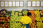 Lower fruit prices helped push down inflation.