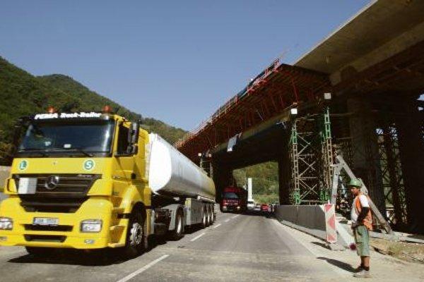 Intensive highway construction is underway in Slovakia.