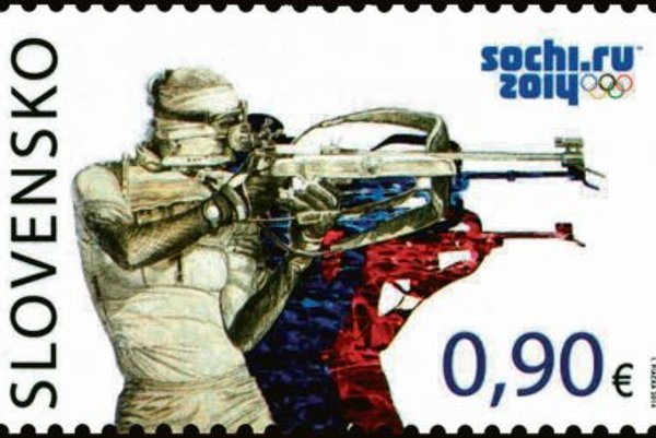 Slovak Olympic stamp.