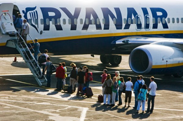 ryanair plane, illustrative stock photo
