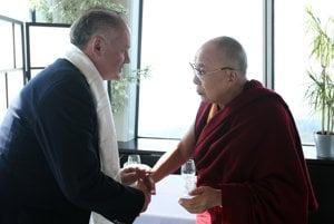 R_L: Dalai Lama with Slovak President Andrej Kiska