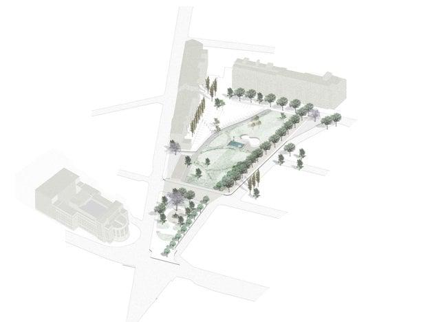 Design of the Šafárikovo Square