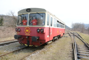 Engine of the historical train